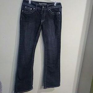 2/$20 Zipper Black Jeans Sz 11